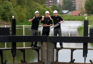 City Building Apprentices employed on Canal Project
